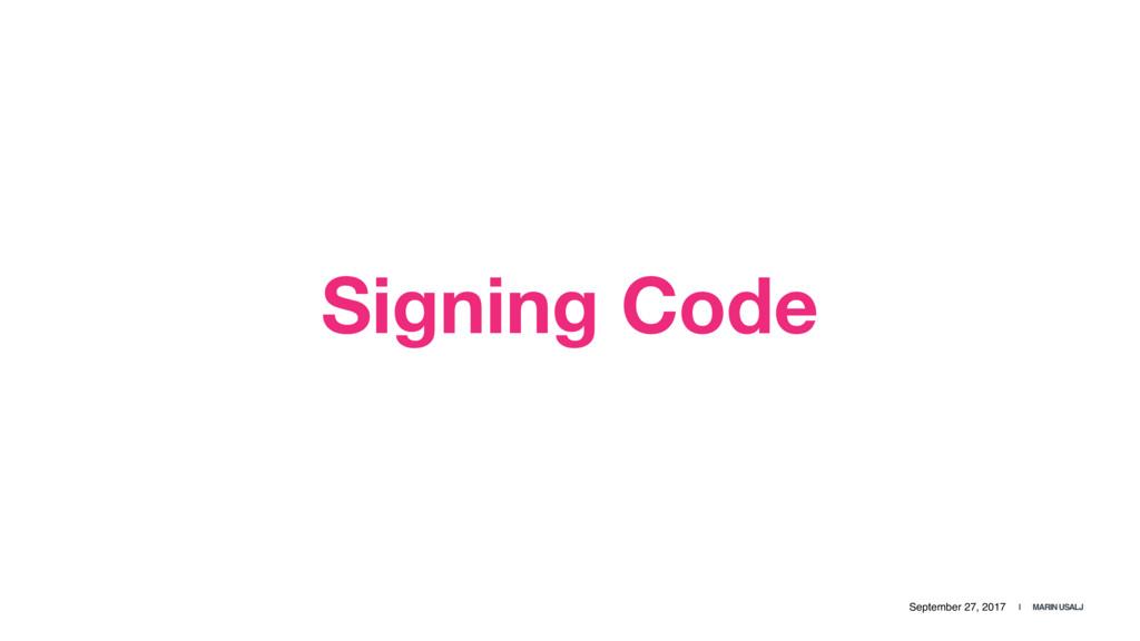 September 27, 2017 | MARIN USALJ Signing Code
