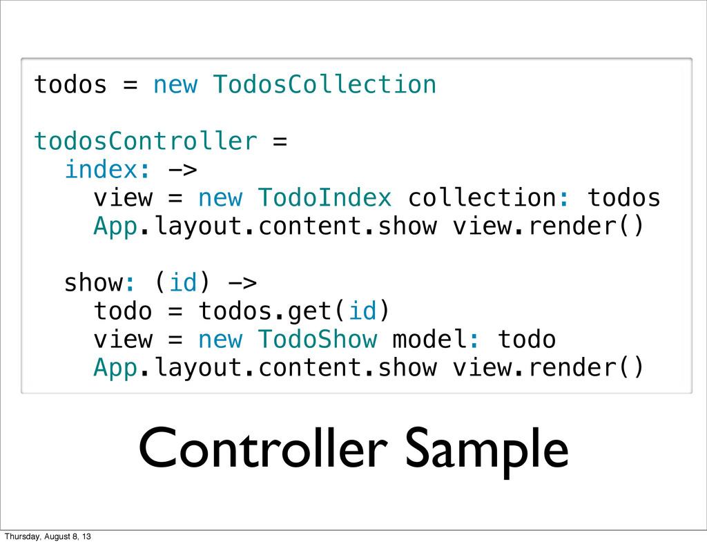 Controller Sample todos = new TodosCollection t...