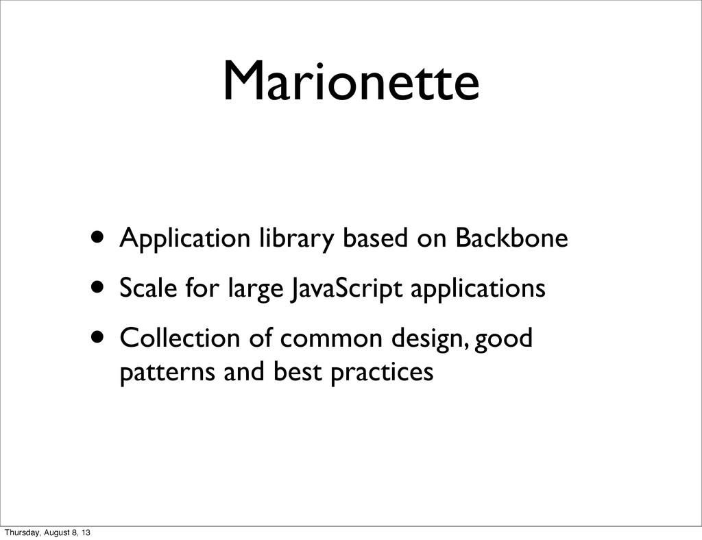 Marionette • Application library based on Backb...