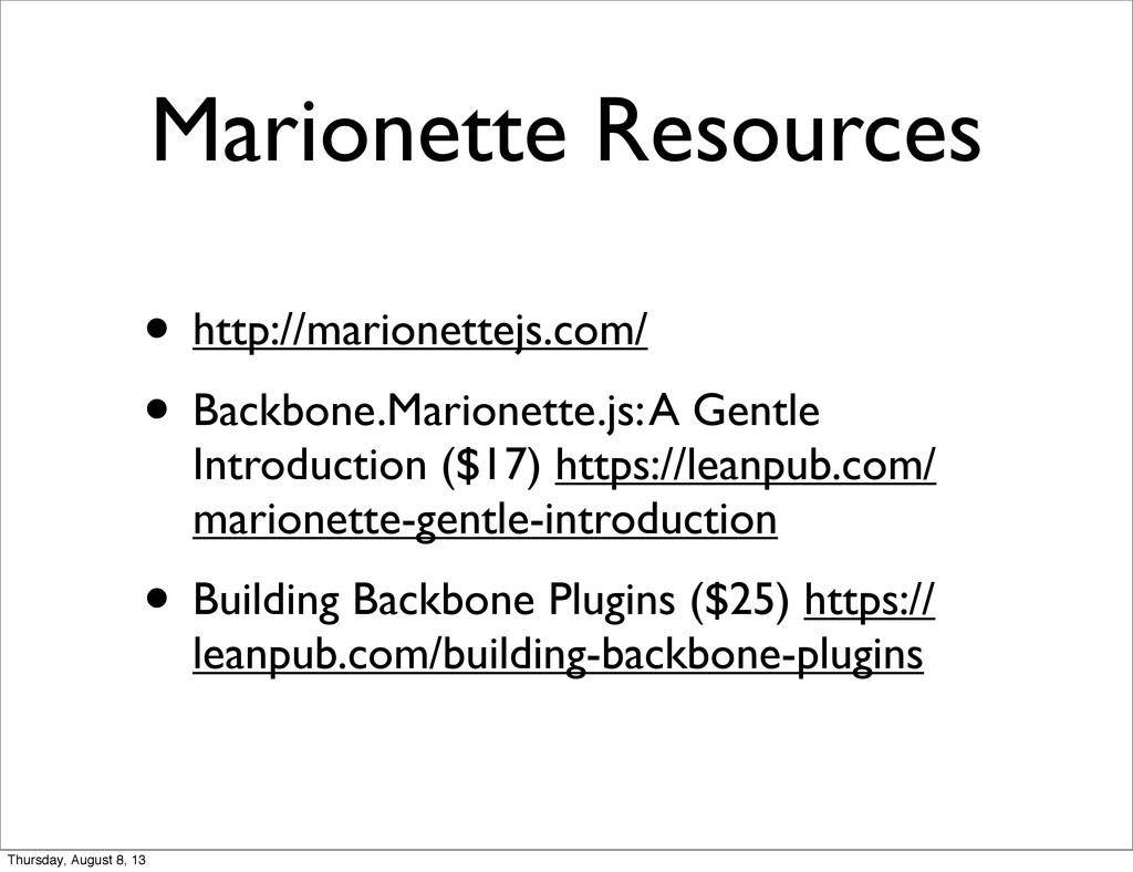 Marionette Resources • http://marionettejs.com/...