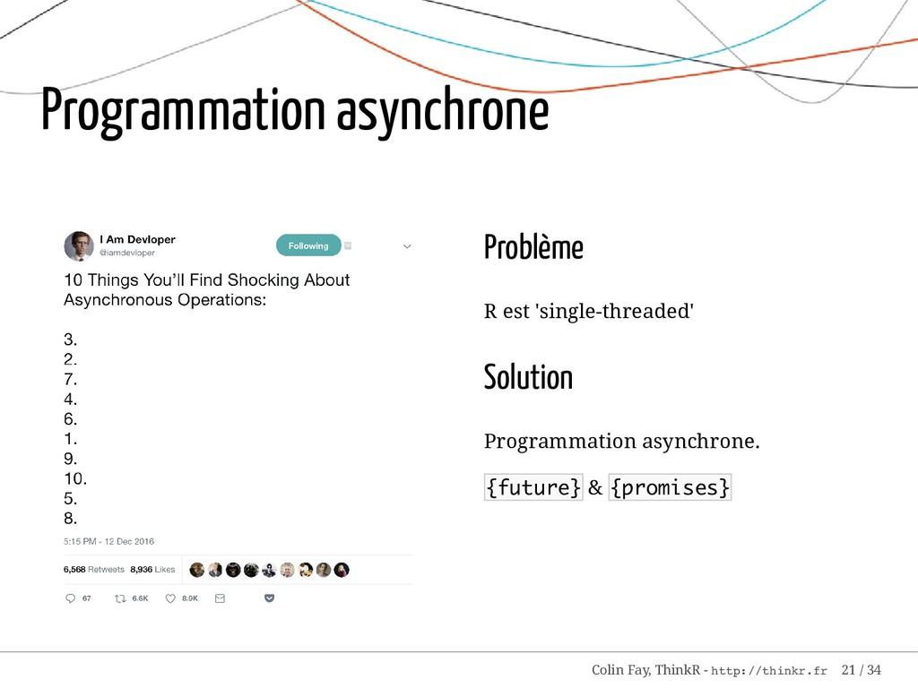 Problème R est 'single-threaded' Solution Progr...