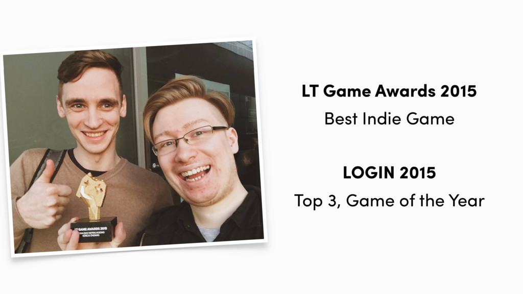 LT Game Awards 2015 Best Indie Game LOGIN 2015 ...