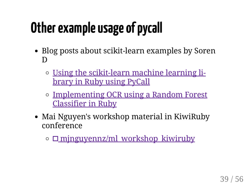 Other example usage of pycall Blog posts about ...