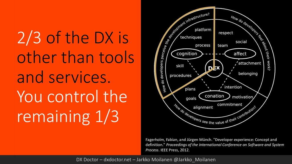 2/3 of the DX is other than tools and services....