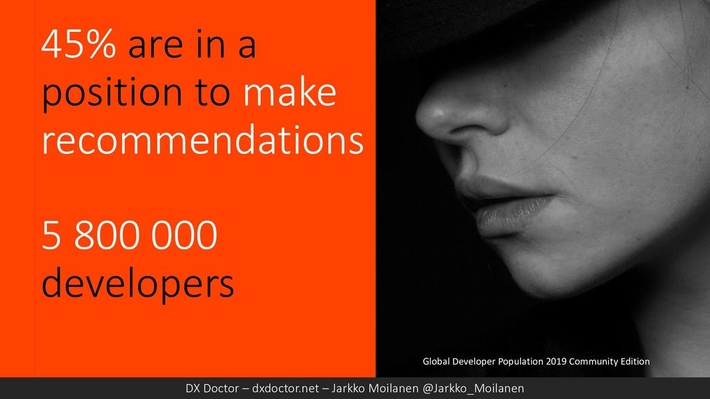 45% are in a position to make recommendations 5...