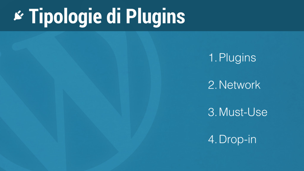 1.Plugins 2.Network 3.Must-Use 4.Drop-in Tipolo...