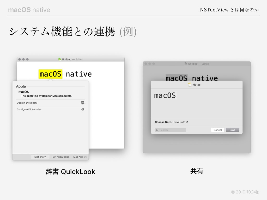 macOS native /45FYU7JFX ͱ͸Կͳͷ͔ © 2019 1024jp γε...