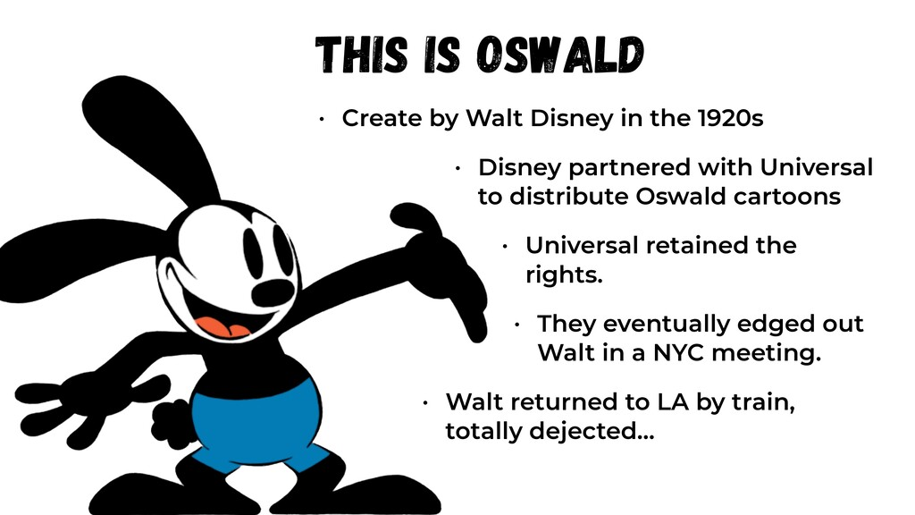 This is Oswald • Create by Walt Disney in the 1...