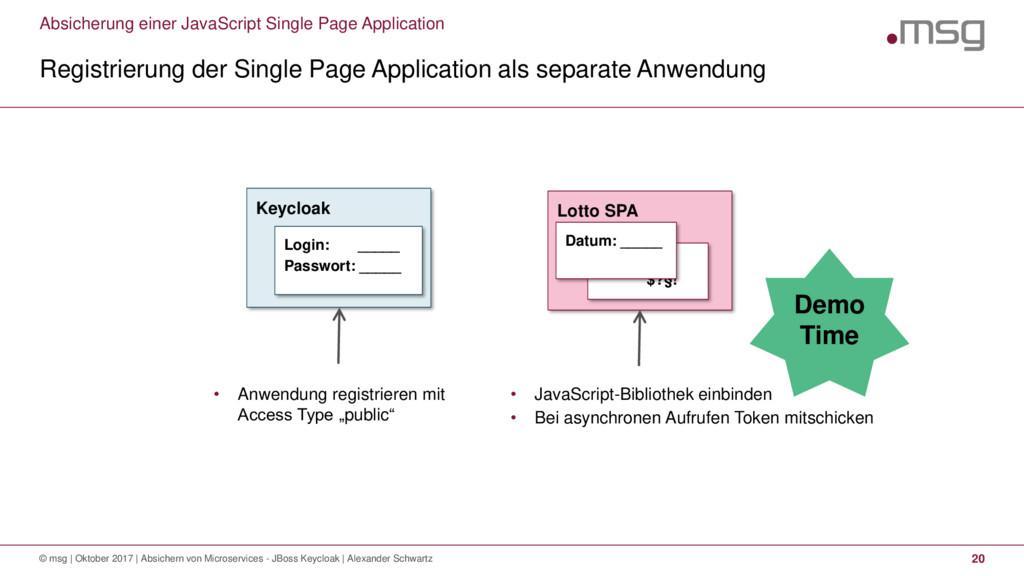 Absicherung einer JavaScript Single Page Applic...