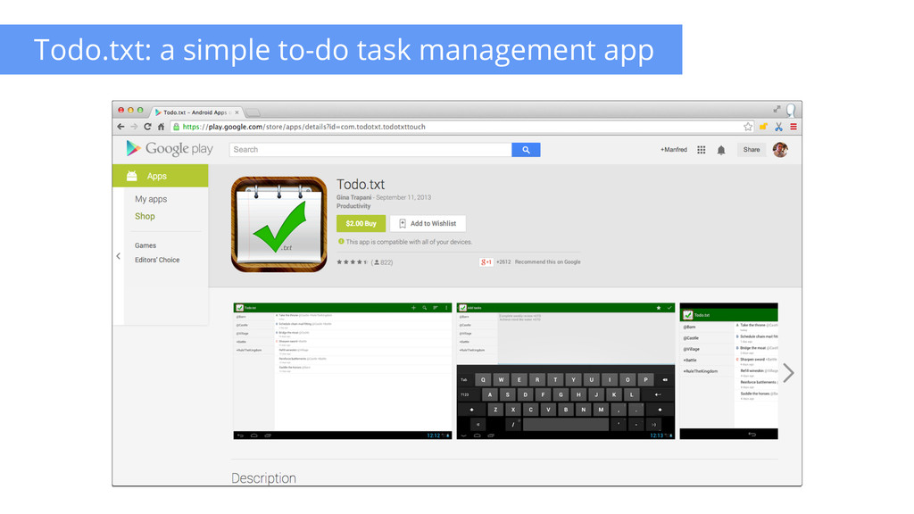 Todo.txt: a simple to-do task management app