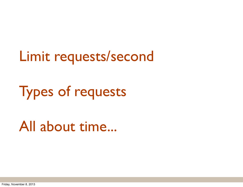 Limit requests/second Types of requests All abo...