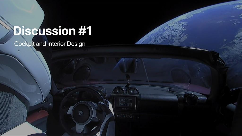 Discussion #1 Cockpit and Interior Design