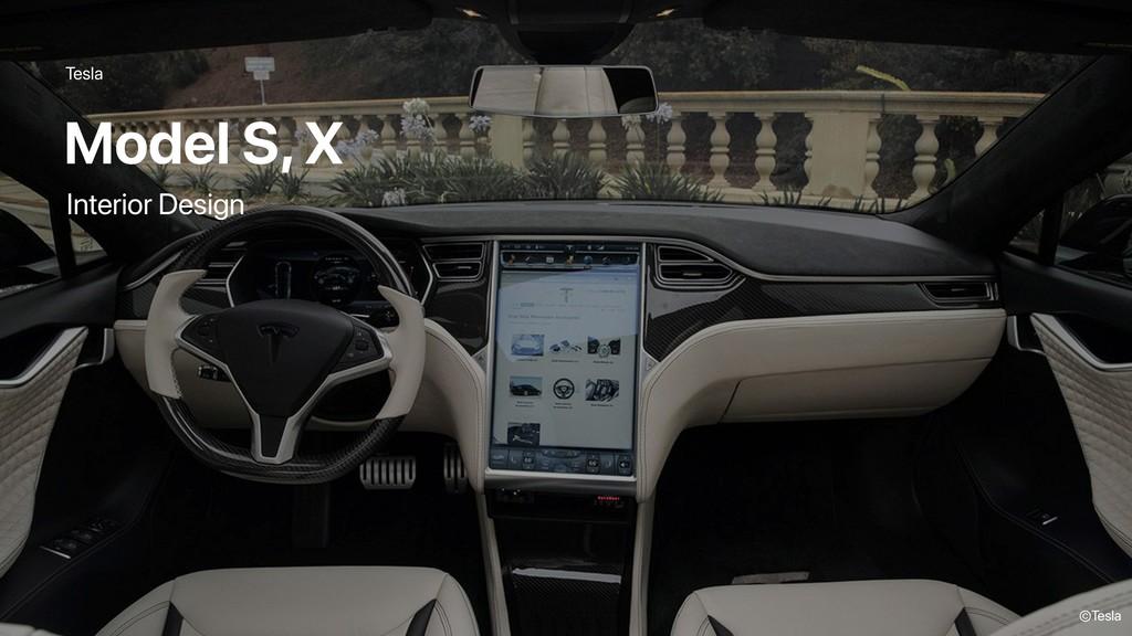Tesla Model S, X ©Tesla Interior Design