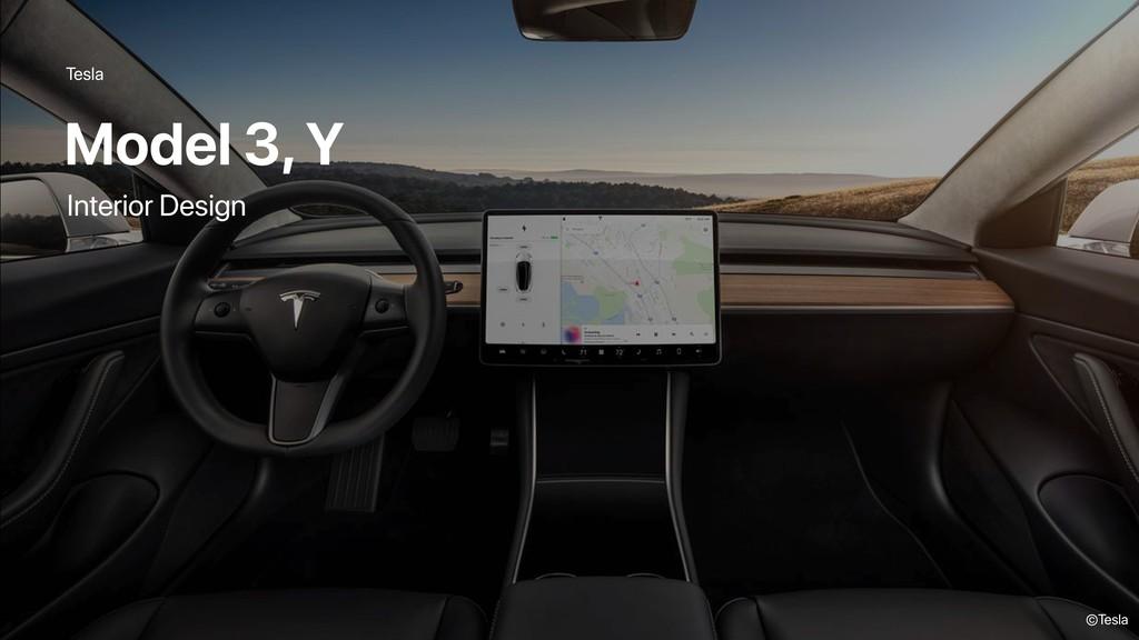 Tesla Model 3, Y ©Tesla Interior Design
