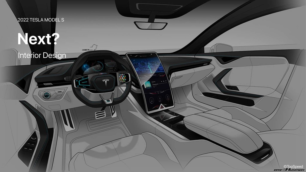 2022 TESLA MODEL S Next? ©TopSpeed Interior Des...