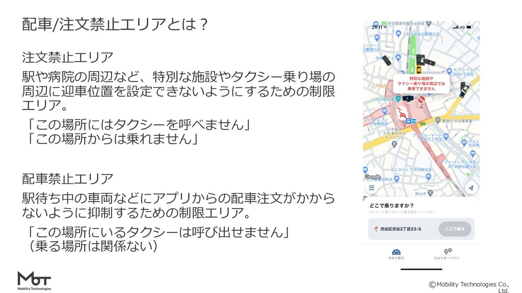 Mobility Technologies Co., 配⾞/注⽂禁⽌エリアとは︖ 注⽂禁⽌エリ...