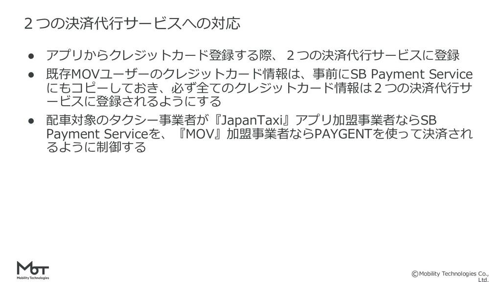Mobility Technologies Co., ● アプリからクレジットカード登録する際...