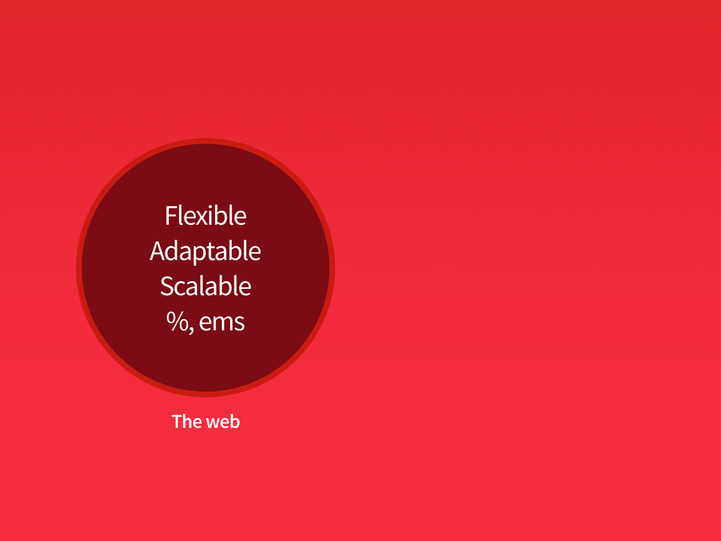 Flexible Adaptable Scalable %, ems The web