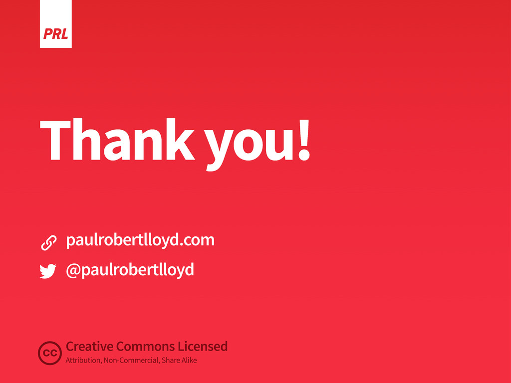 Thank you! Creative Commons Licensed Attributio...
