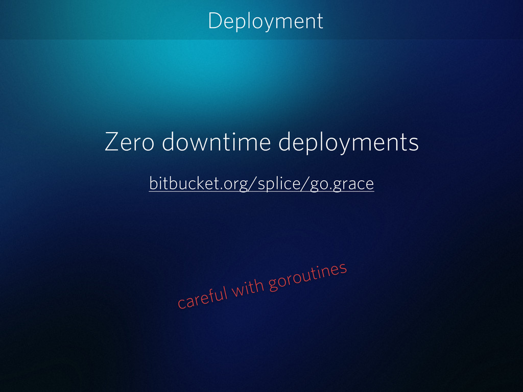 Deployment Zero downtime deployments bitbucket....