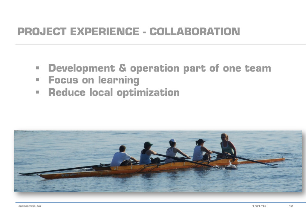 codecentric AG PROJECT EXPERIENCE - COLLABORATI...