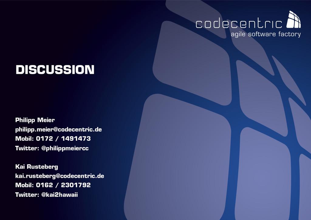 codecentric AG DISCUSSION Philipp Meier philipp...