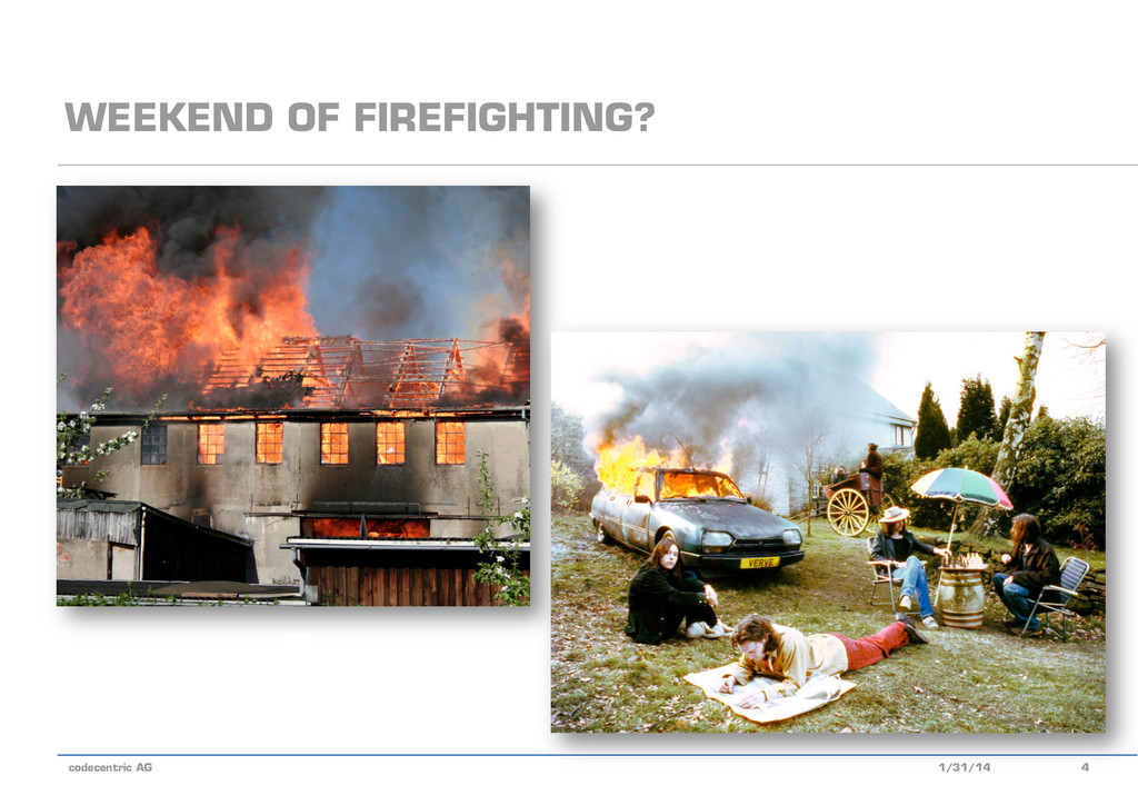 codecentric AG WEEKEND OF FIREFIGHTING? 1/31/14...
