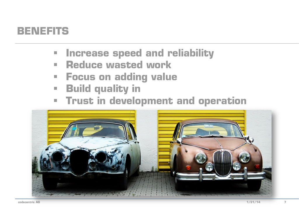 codecentric AG § Increase speed and reliabili...