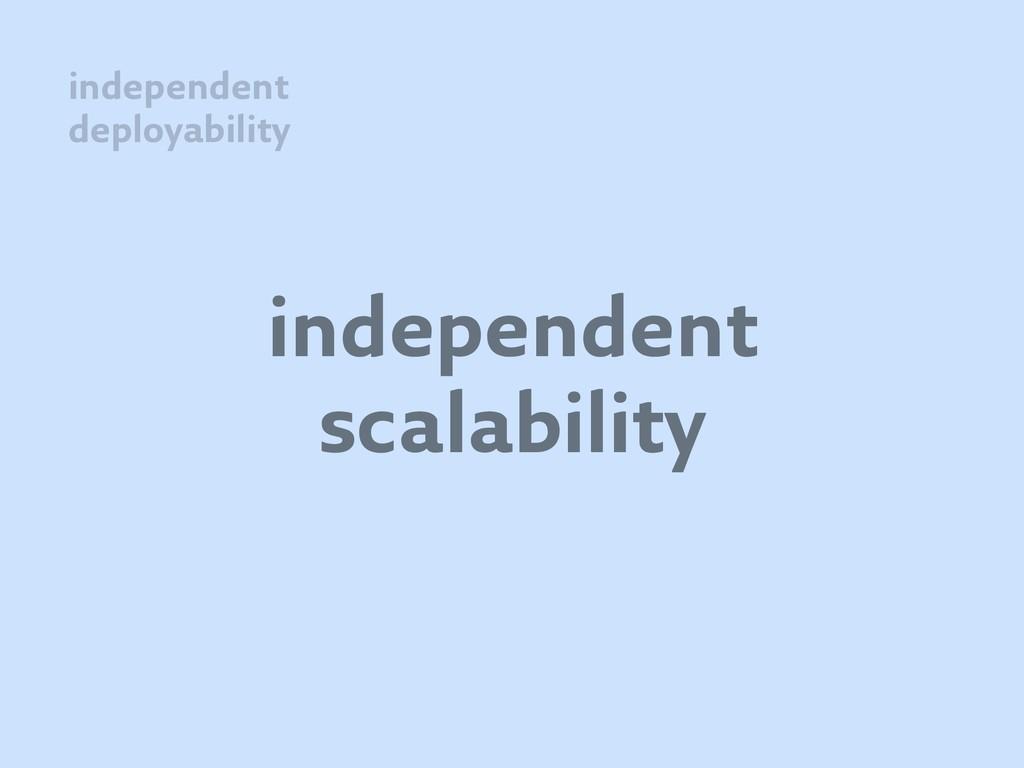 independent scalability independent deployabili...