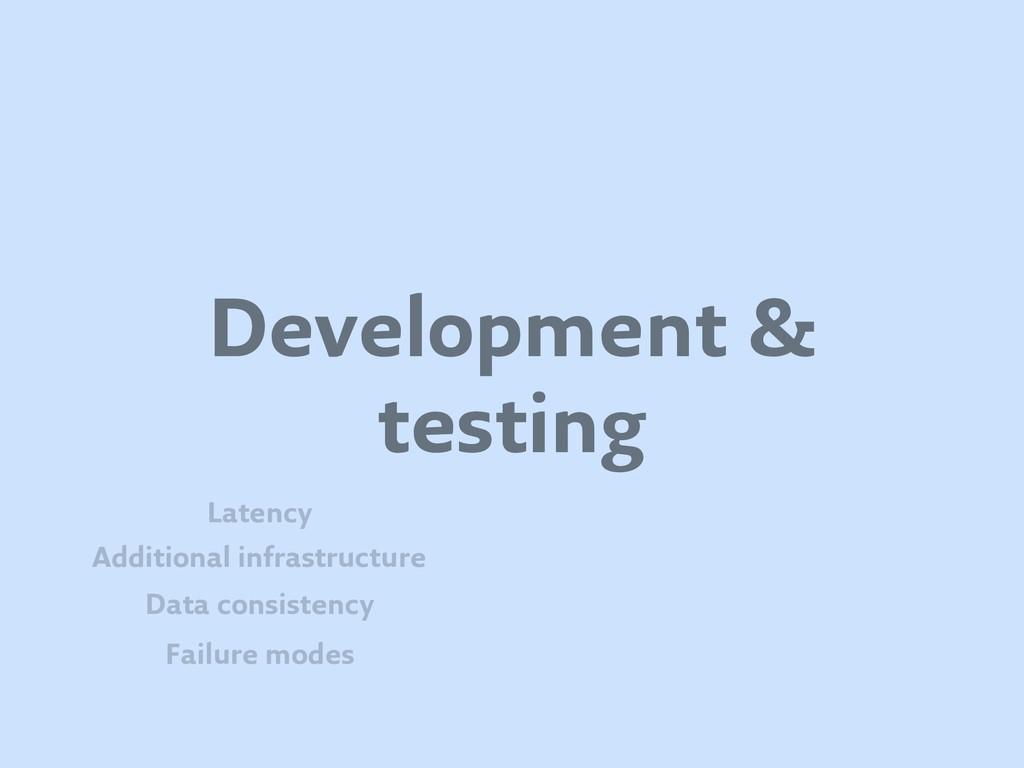Development & testing Failure modes Data consis...