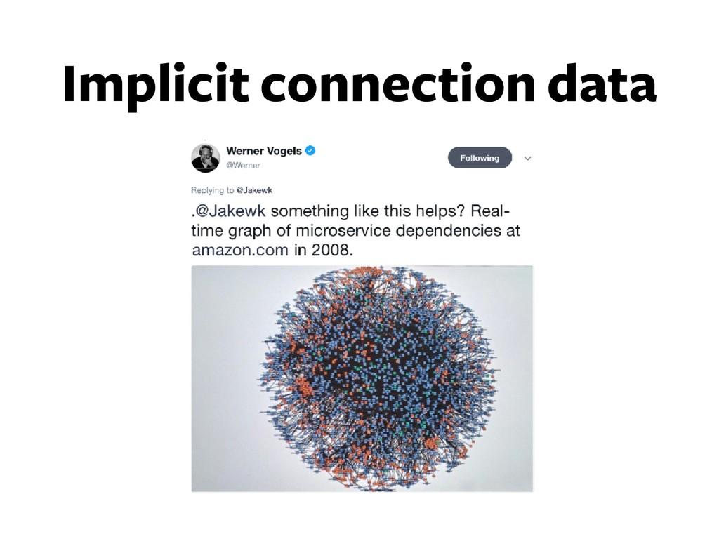 Implicit connection data