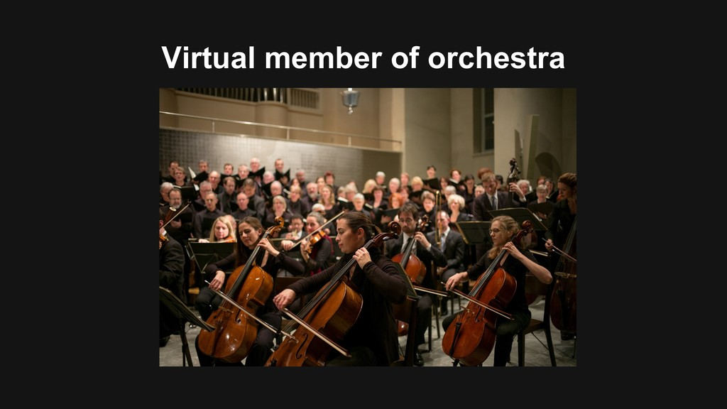 Virtual member of orchestra