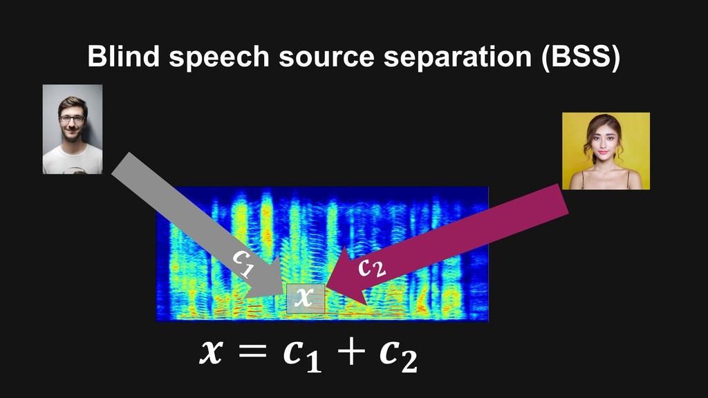 """Blind speech source separation (BSS) ! """" !# $ =..."""