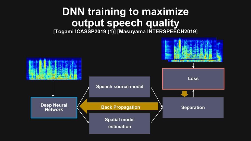 Deep Neural Network DNN training to maximize ou...
