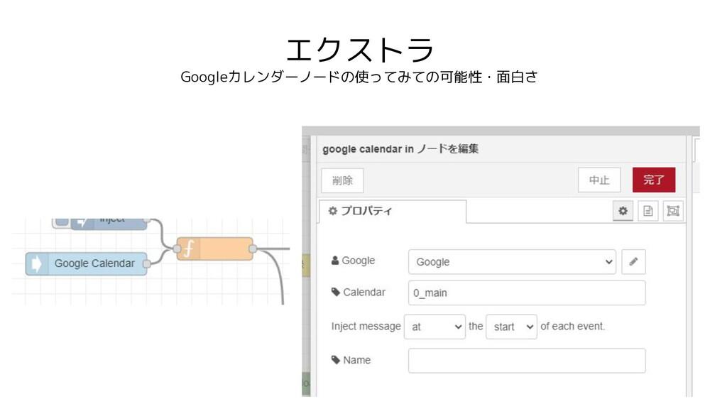 エクストラ Googleカレンダーノードの使ってみての可能性・面白さ