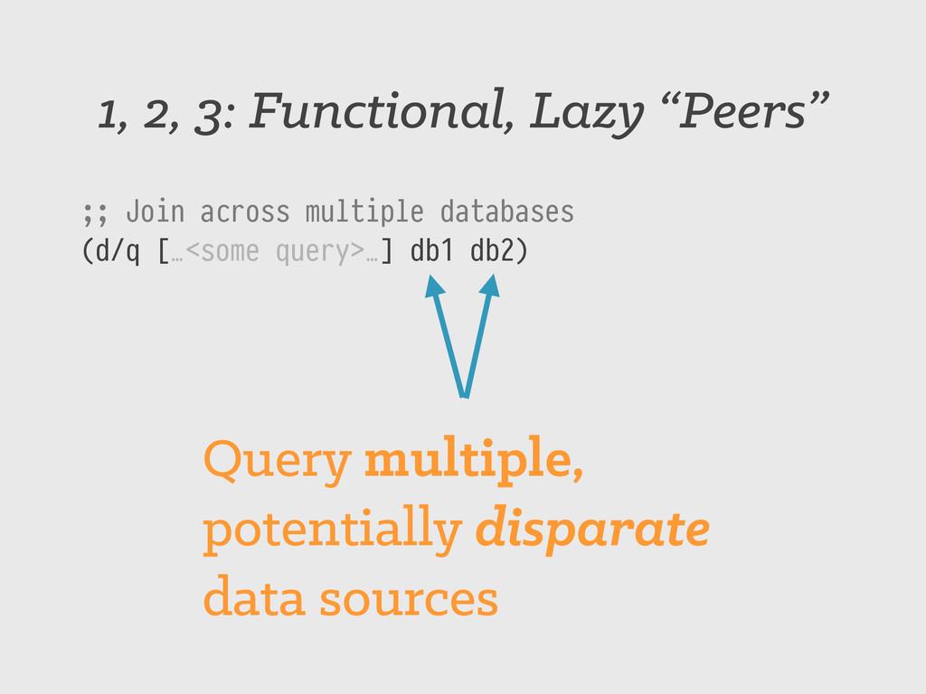 "1, 2, 3: Functional, Lazy ""Peers"" ;; Join acros..."