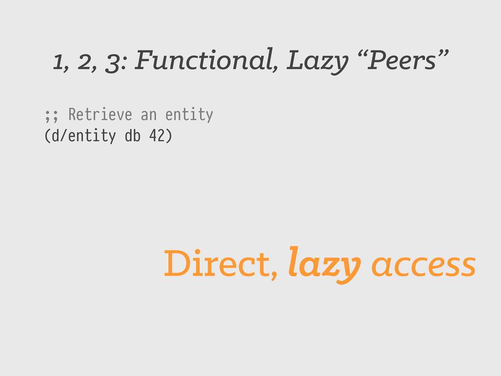 "1, 2, 3: Functional, Lazy ""Peers"" ;; Retrieve a..."