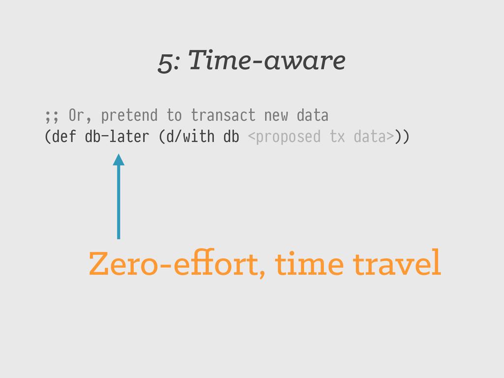 5: Time-aware ;; Or, pretend to transact new da...