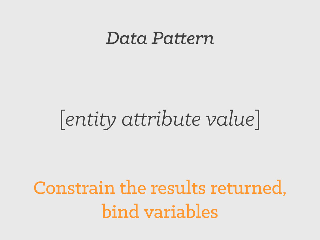 Data Pattern [entity attribute value] Constrain...