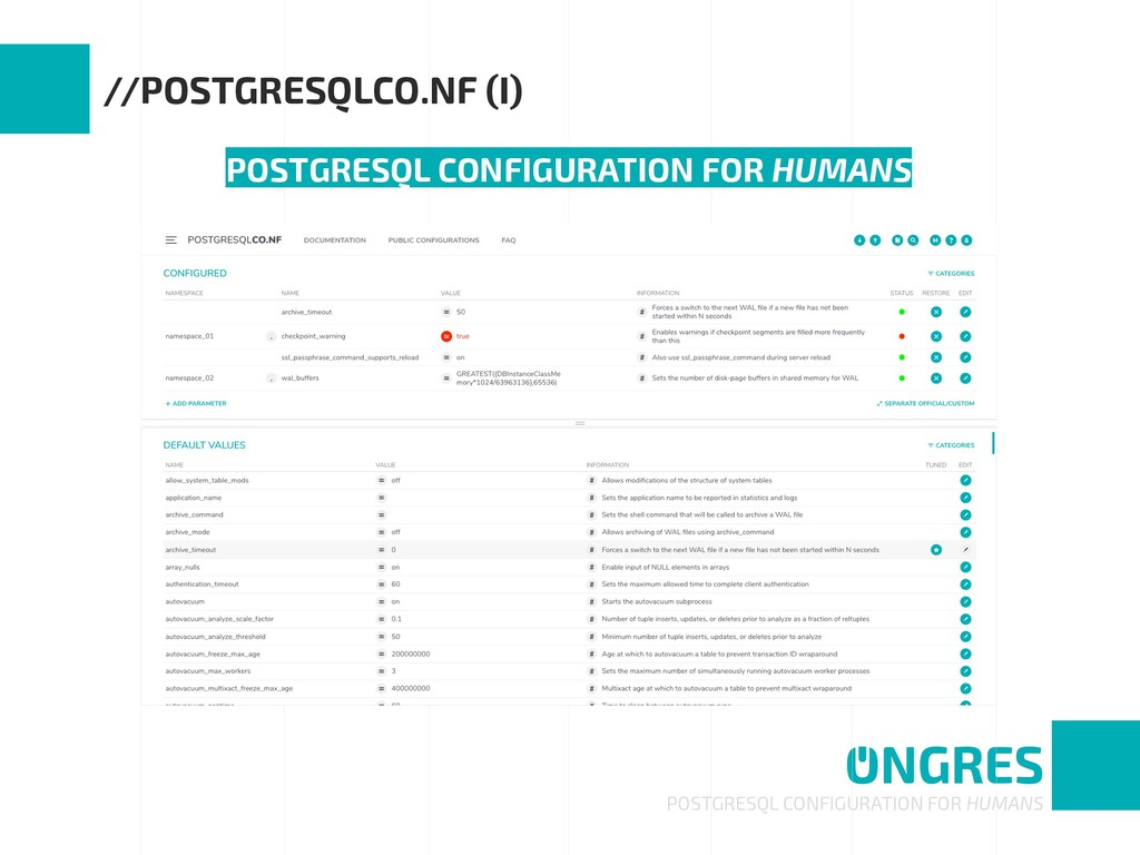 POSTGRESQL CONFIGURATION FOR HUMANS //POSTGRESQ...