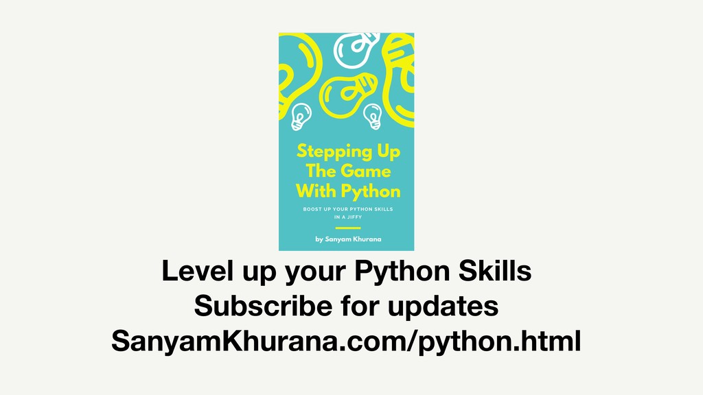 Level up your Python Skills Subscribe for updat...