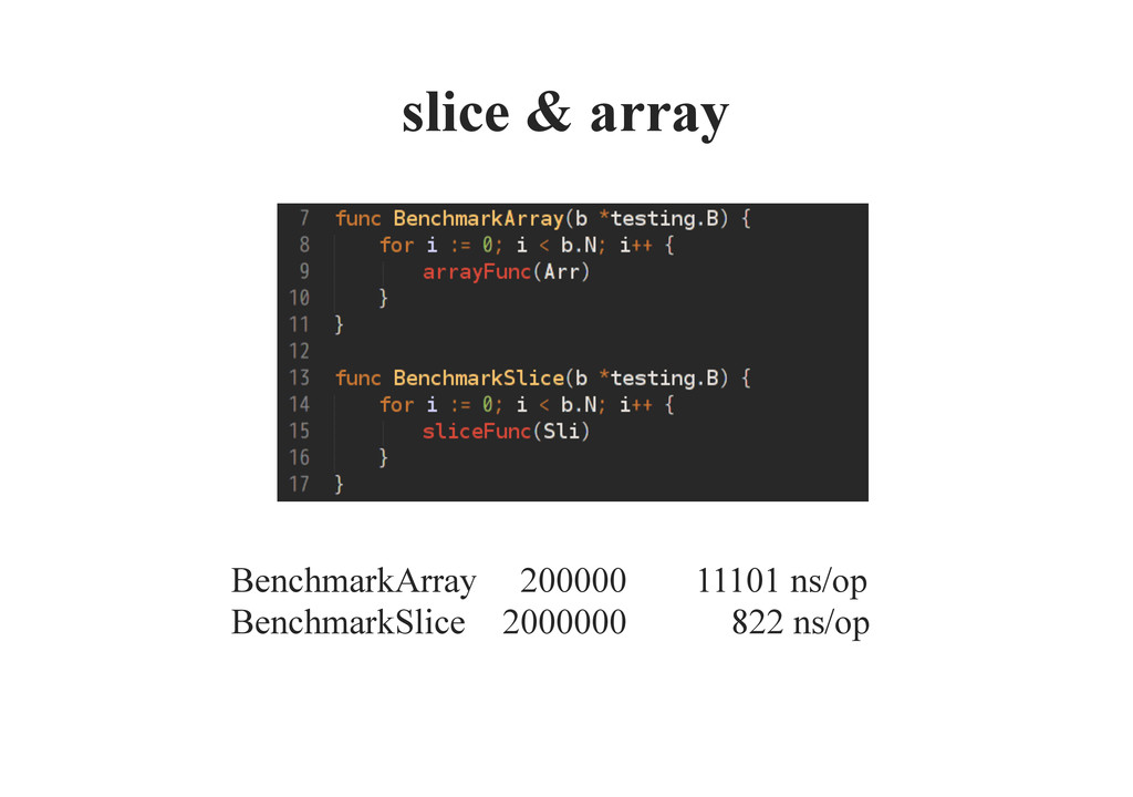 slice & array BenchmarkArray 200000 11101 n...