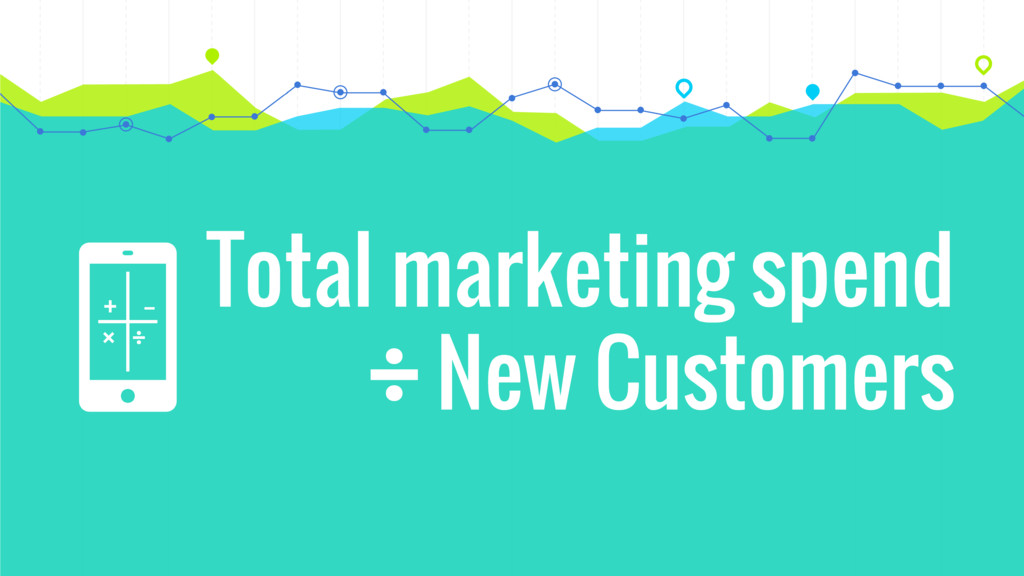 + × ÷ – Total marketing spend New Customers ÷