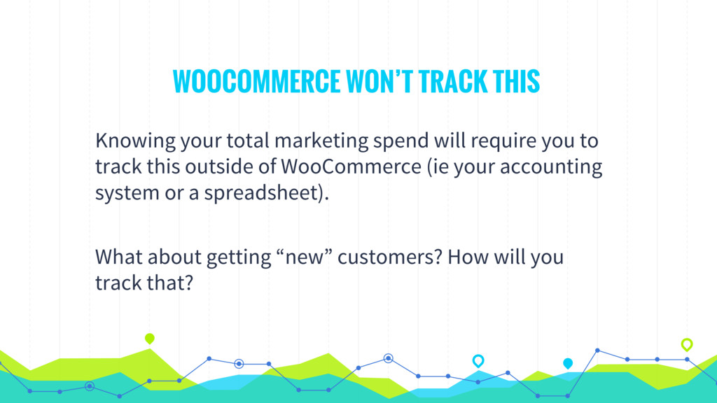 WOOCOMMERCE WON'T TRACK THIS Knowing your total...