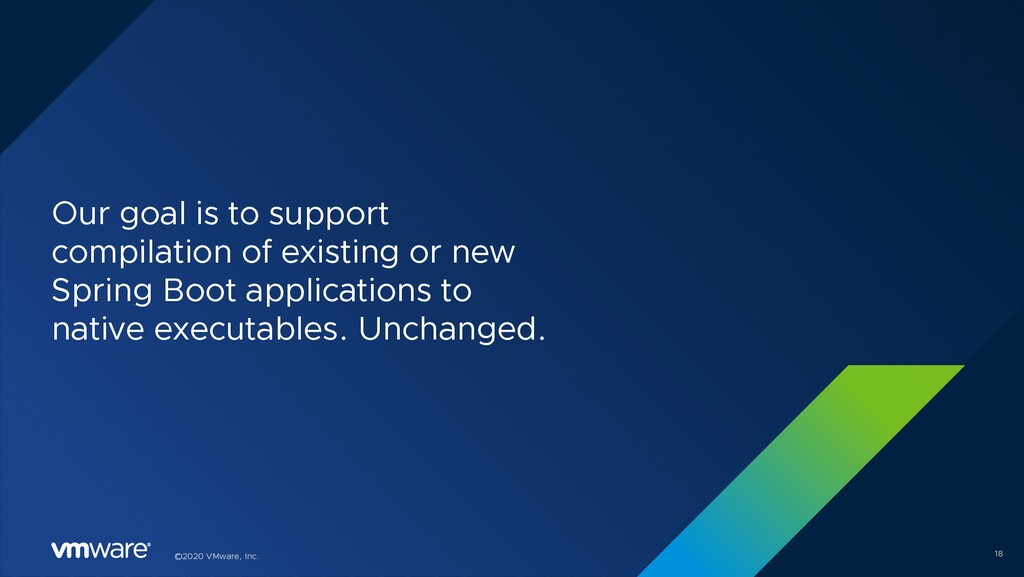 ©2020 VMware, Inc. Our goal is to support compi...
