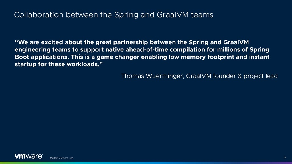 """©2020 VMware, Inc. """"We are excited about the gr..."""