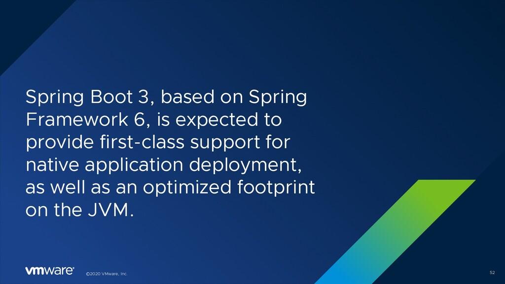 ©2020 VMware, Inc. Spring Boot 3, based on Spri...