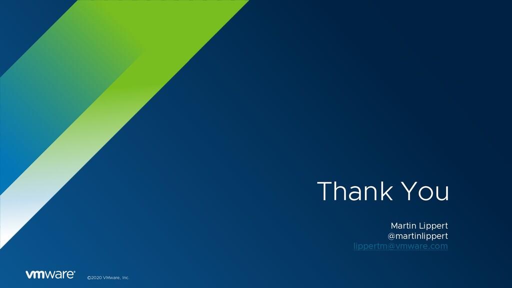 ©2020 VMware, Inc. Thank You Martin Lippert @ma...
