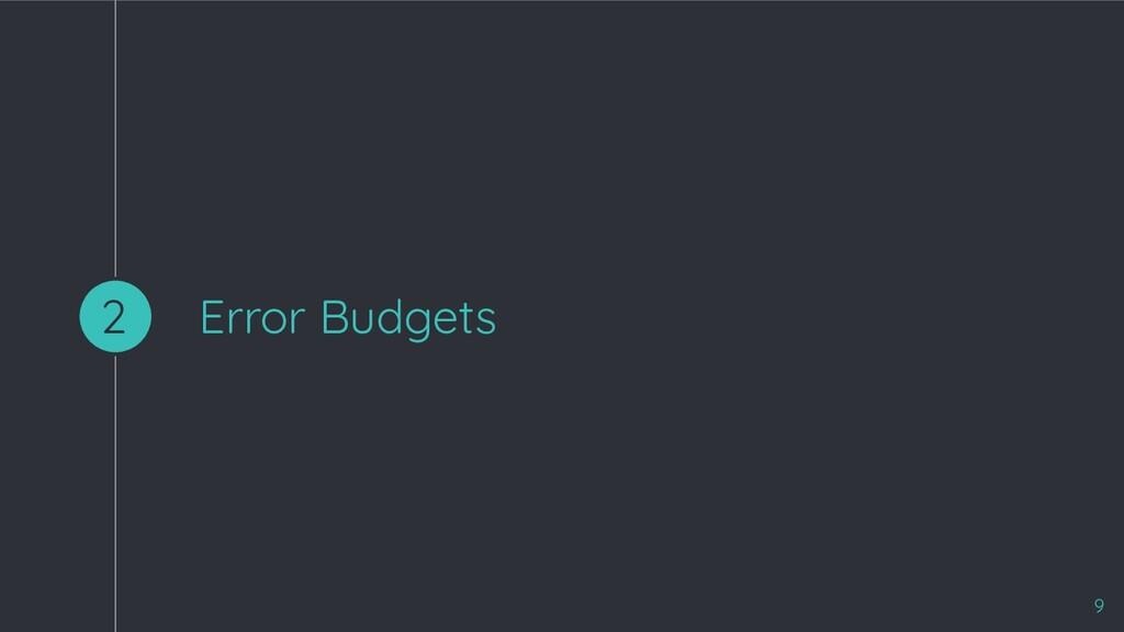 Error Budgets 2 9