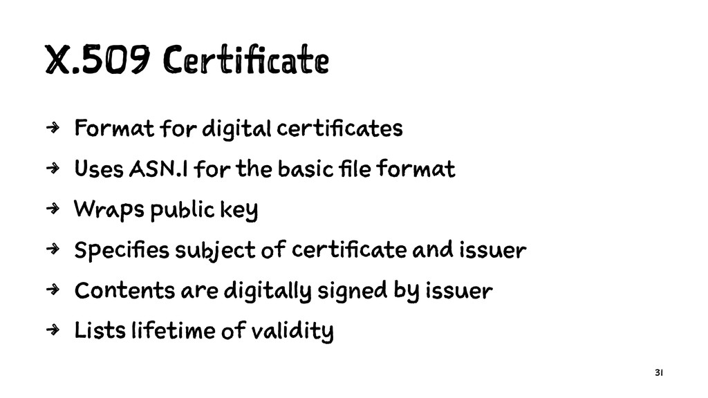 X.509 Certificate 4 Format for digital certific...